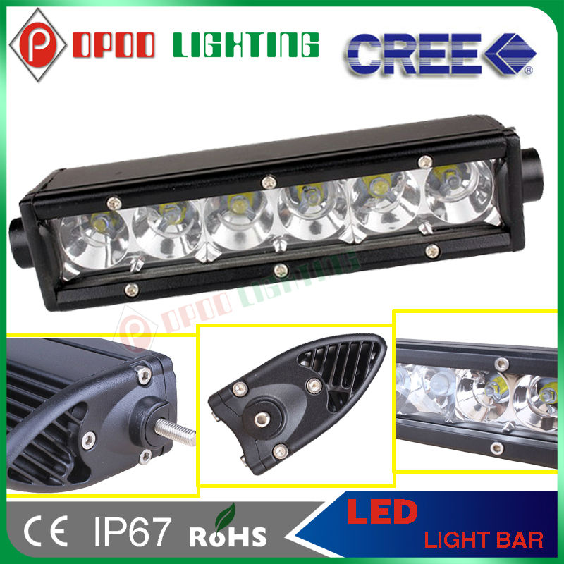 "Best selling Cree Single row 10-30v 2950lm 6"" 30w rotating light bar"