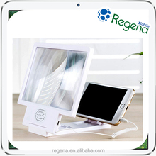 New Arrival Foldable magnifier with speaker for mobile phone screen, mobile phone screen magnifier enlarge stand