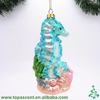 unique animated hand blown glass cube christmas ornaments wholesales from direct factory in China