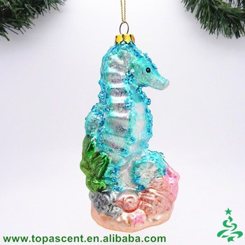 wholesale unique animated hand blown glass cube christmas