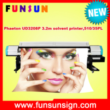 Phaeton UD3208P 3.2m wide format 720dpi flex banner printing machine with 4 or 8 510/35pl head
