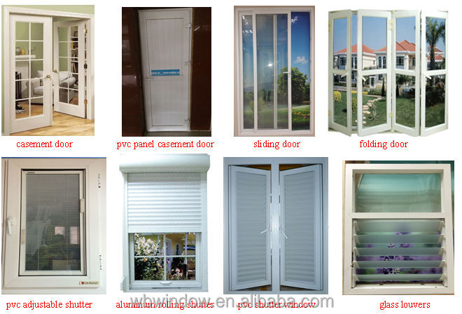 Cheap Price Upvc Tilt And Turn Window And Door For Conch Windows
