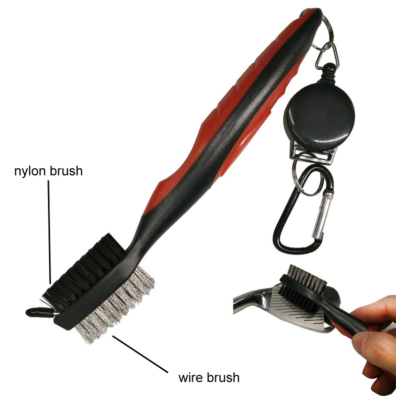 High Quality Deluxe Golf Club Cleaning Brush With Groover