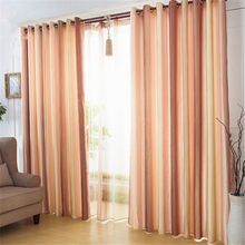 China supplier stripe style cheap fancy wholesale window curtain