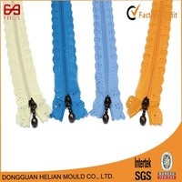 3# high quality eco-friendly lace tape nylon coil teeth zipper turkish evening dresses zippers made in china