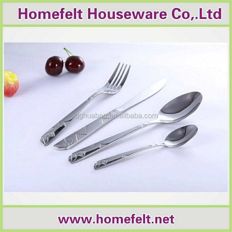 High quality european design royal stainless steel 2cr14 cutlery set