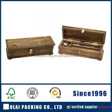 2015 elegant distressed wood pen box for sale