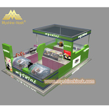 3D Mall Wooden Ice Cream Kiosk Design