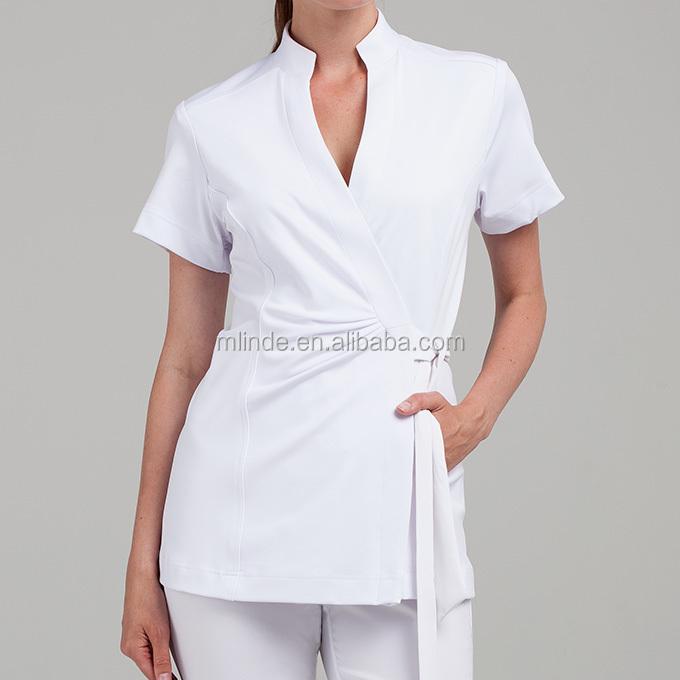 Venta al por mayor modelos de blusas para mujeres gordas for Spa uniform alibaba