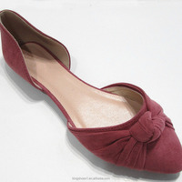 Women Pointed Toe Orsay Flats China