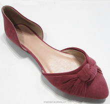 Women pointed toe Orsay Flats China knotted causual shoe