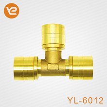 China supplier Brass PEX Equal Tee Crimp Fittings