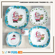 various designs square porcelain 2015 newest Christmas dinnerware set