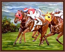 running horse paint by numbers yiwu wholesales paint boy canvas painting kit GX6839