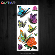 Good Quality Colourful Waterproof 3D Butterfly Stickers 3D Butterfly Tattoo