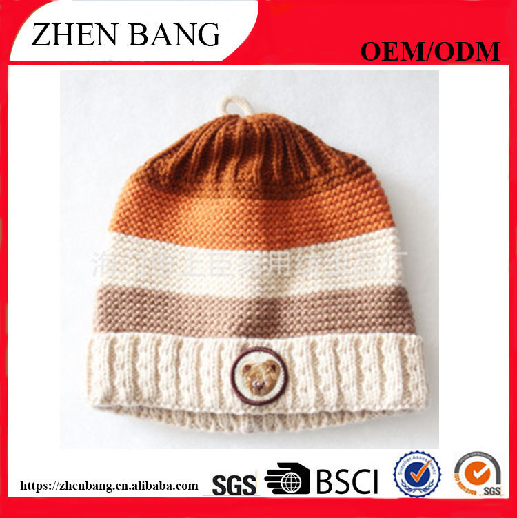 Best price can be custom size and logo Knitted Unisex Winter Hat