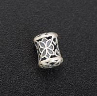 high quality 925 silver accessories beads for jewelry making retro hand string barrel bead