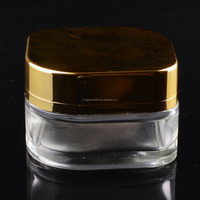 hot sale 50g unique shape cosmetic organic cream glass jar bottle for face skin care