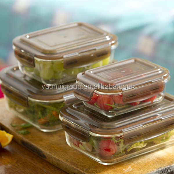 High resistance meal prep glass container