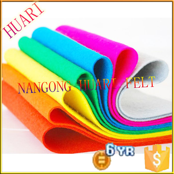 2015 high quality manufacturer production nonwoven polyester fabric embossed felt