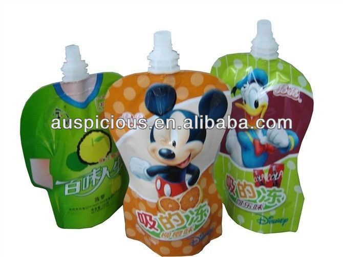 Ice candy jelly spout bag compound bag with cap