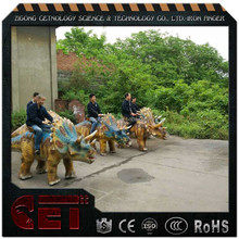 Cet-A-1208 handmade electric dinosaur rides kid mechanical dinosaur rides walking animals for children