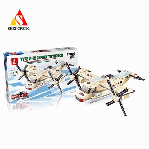 plastic army toys aircraft toys puzzle toy for funny building block