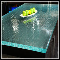 hexagon 8 seaters glass dining table