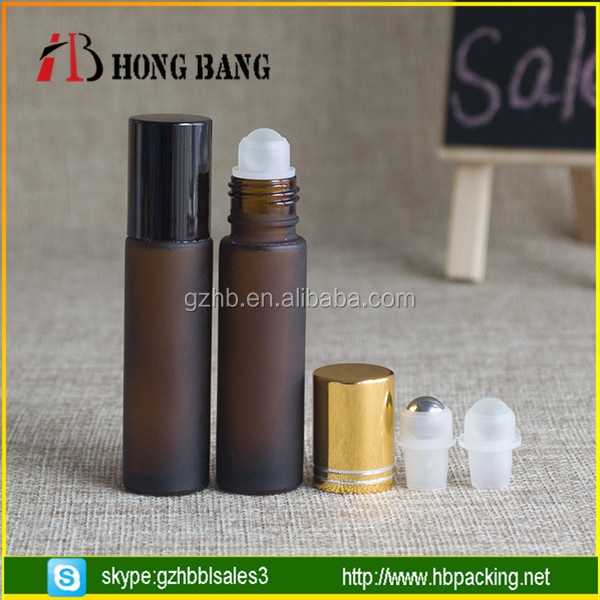 china supplier free samples High Quality 10ml 1/3 oz blue roll-on glass perfume bottle
