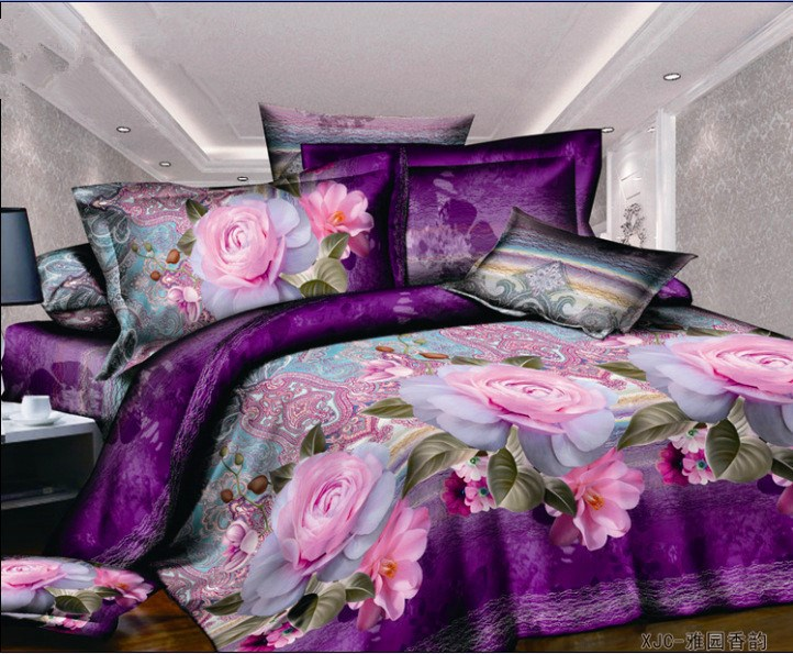 Latest design duvet cover,bed sheet set,3D print bedding sets