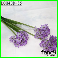 Single stem 3 heads wholesale artificial import china silk flowers