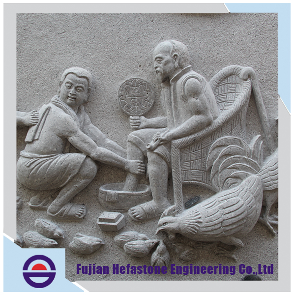 Alibaba Supplier Factory Magnificent Support Oem Service Chinese Relief Stone Relievo Carving Culture Wall Stone