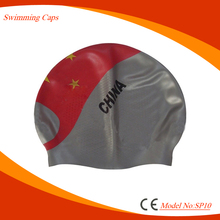 Custom printed swimming caps Funny innovative good quality silicone swimming cap