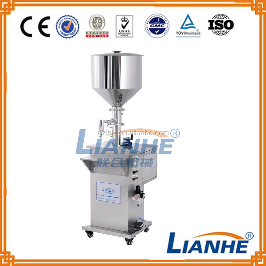 Automatic or semi-automatic filling machine for cream, filling machine for paste