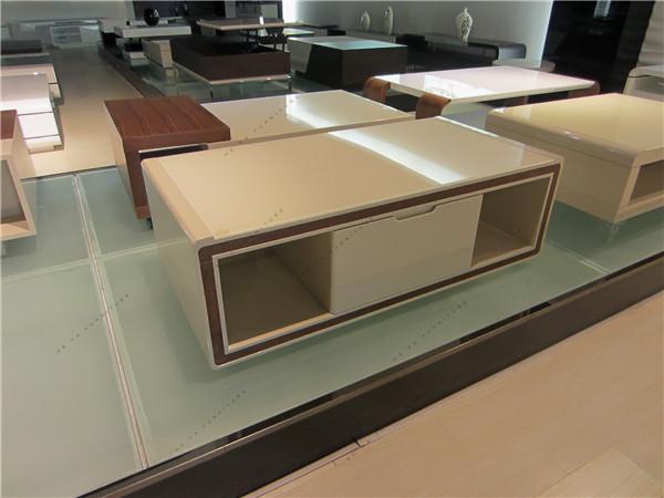 Tv Chest Desige Wooden Furniture Beige Corner Tv Stand