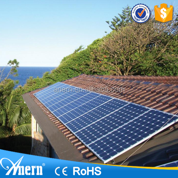 High power industrial complete home solar power system