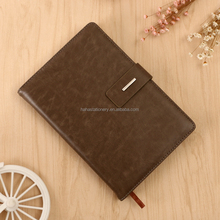 2017 high quality PU leather dirary silk ribbon hardcover notebook