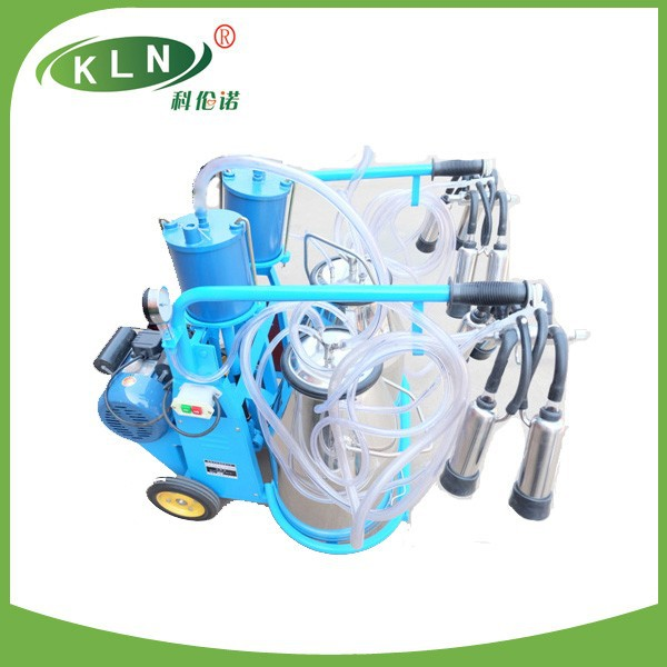 Piston type double buckets hot sale milking machine for cow