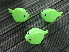Eco-friendly vinYl figure PUFFER FISH toys for soap