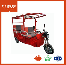 High Cost-performance Tuk Tuk Rickshaw with 60V 1200W Motor/Electric Tricycle for Passenger