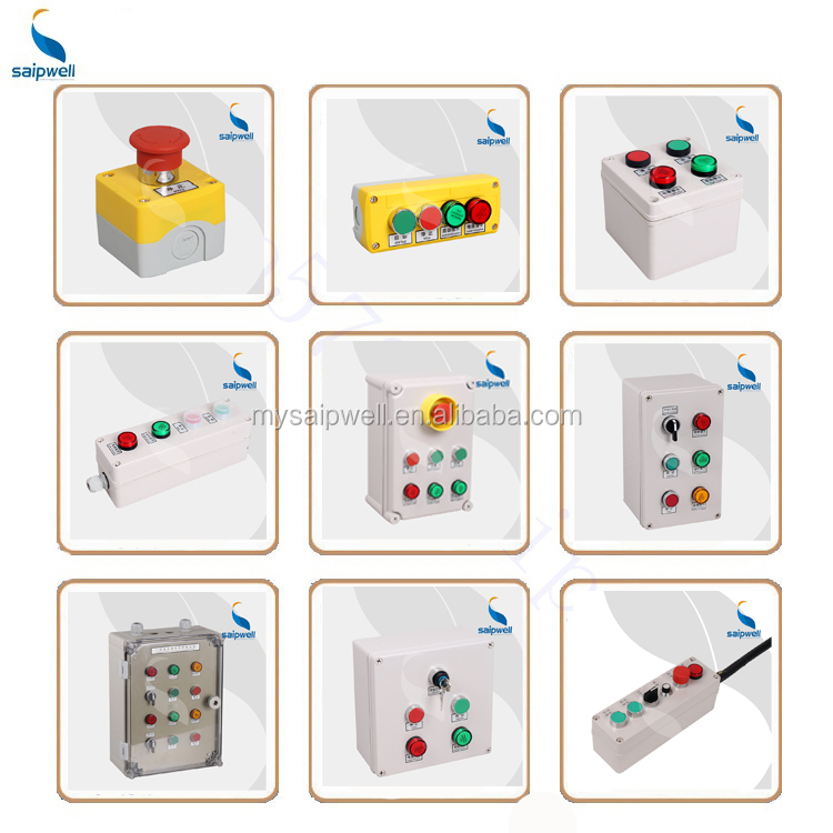 SAIP/SAIPWELL 280*190*130mm Pushbutton Control Box Electric Plastic Box