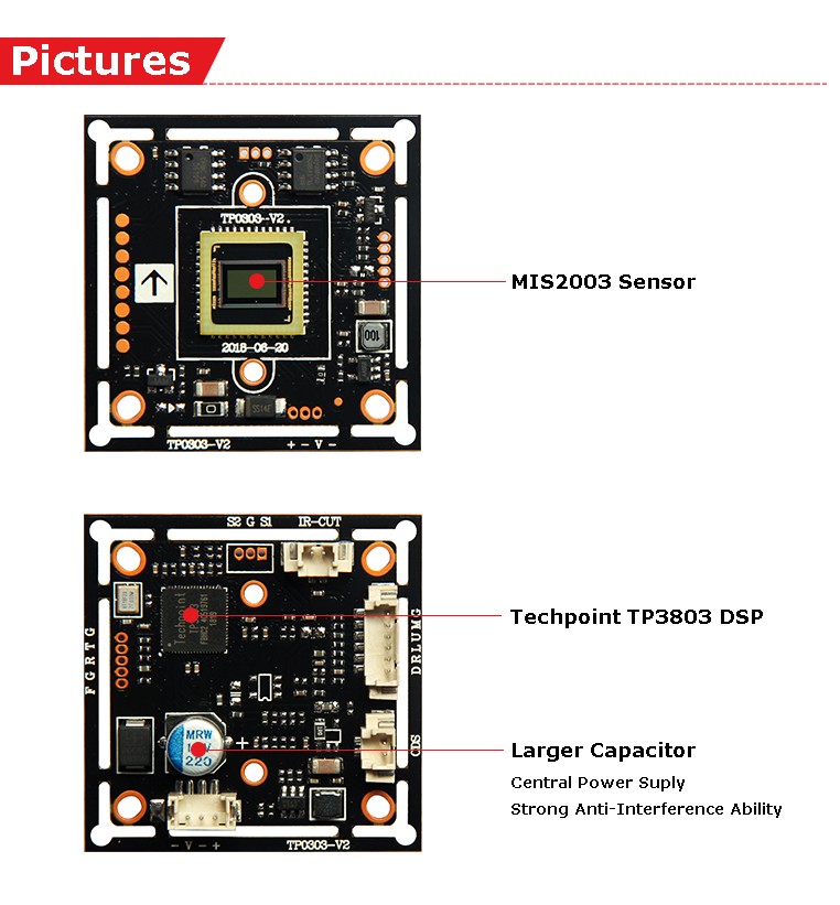 2MP Low Price  1080P CCTV AHD Camera PCB board