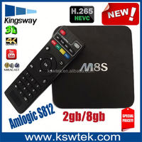 Promotional wireless dual band wifi m8s amlogic s812 m8s smart free full hd 1080p porn video android tv box 4 4 2