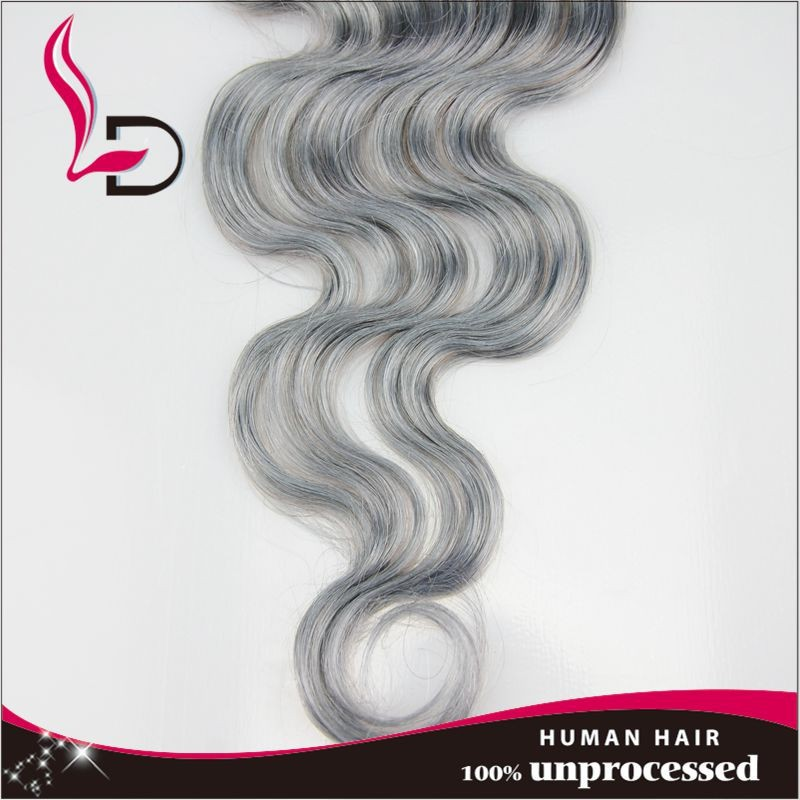 Wholesale human magic weave hair brands 100% loose human hair bulk extension wholesale lace front closure weaves grey hair