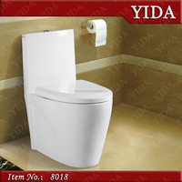 side single flush button one piece ceramic toilet wc, cheap sanitary ware, s/p-trap bowl toilet