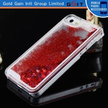 OEM Cute quicksand crystal hard case cover for iphone 5 hot sale cover