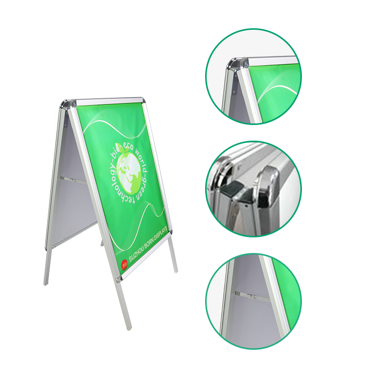 BORN DISPLAY aluminum panel board <strong>A0</strong> A1 A2 size <strong>advertising</strong> board pavement display holder
