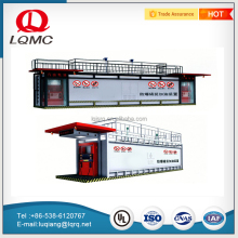 Movable refueling equipment container fuel pump gas stations