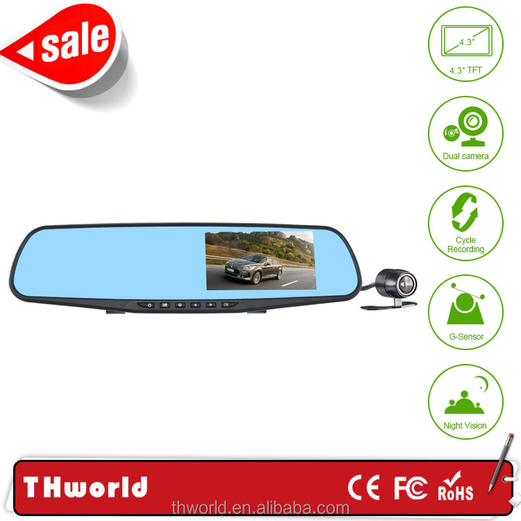 car camera recorder L854X rearview mirror with 1080P FHD car black box