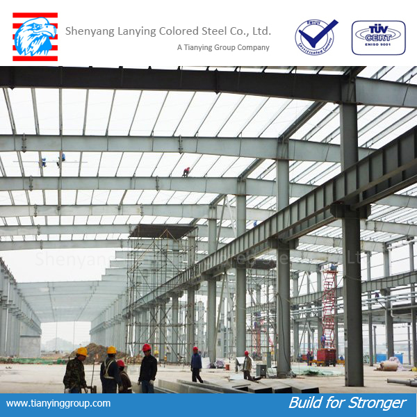 long-span prefabricated steel structure building in China